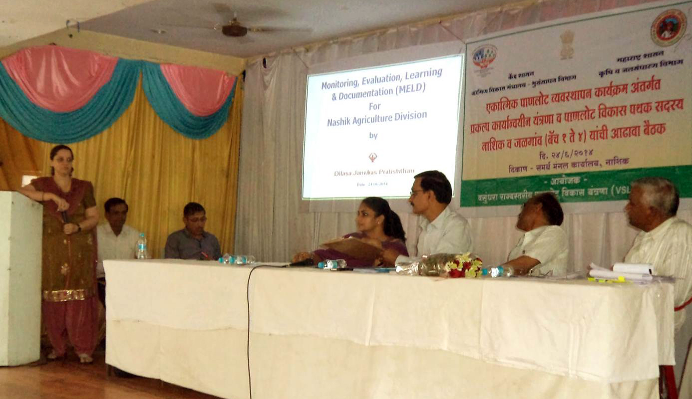 Khadilkar madam, MELD Team Leader Delivering Speech In Review Meeting.JPG